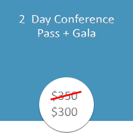 2 Day Conference Pass Plus Gala