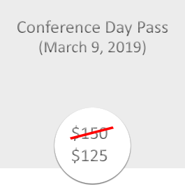 Conference Day Pass March 9 2019